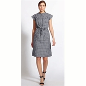 Greta Gingham Yoke Dress