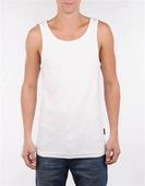 Ted Ribbed Singlet White