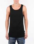 Ted Ribbed Singlet Black