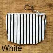 Striped Plastic purse