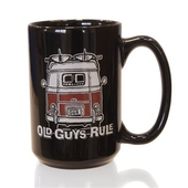 Old Guys Rule Good Vibrations Black Mug