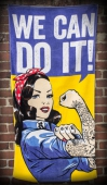 Rumble59 We Can Do It beach towel