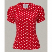 The Seamstress of Bloomsbury Jive blouse red/wht spot