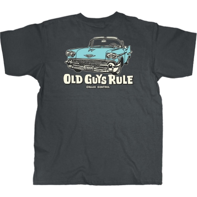 Old Guys Rule Cruise Control Charcoal Tee i gruppen Herr / T-shirts hos Sivletto - Skylark AB (w10606)