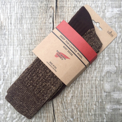 Red Wing Brown Deep Toe Capped Wool - Sock i gruppen Made in USA hos Sivletto (w10851)