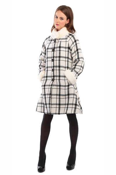Collectif clothing Mariella checked coat i gruppen Udda-disk / Dam / Övrigt hos Sivletto - Skylark AB (w10877)
