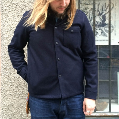 Sarva Wool Shirt Made In Sweden Navy i gruppen Unionville / Made in Sweden hos Sivletto (w10963)