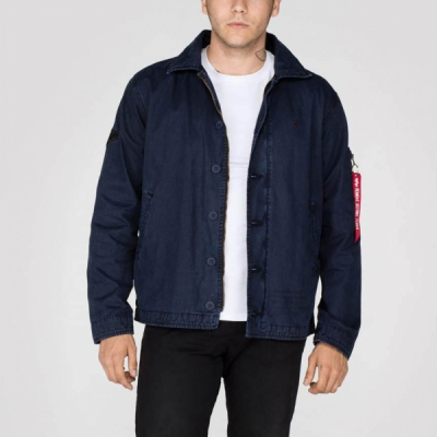 Alpha Authentic Utility Custom Jacket Rep. Blue i gruppen Rea! / Herr / Jackor hos Sivletto - Skylark AB (w12714)
