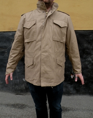 Alpha Industries Inc. M-65 Field Jacket Khaki i gruppen Herr / Jackor hos Sivletto (w2982)