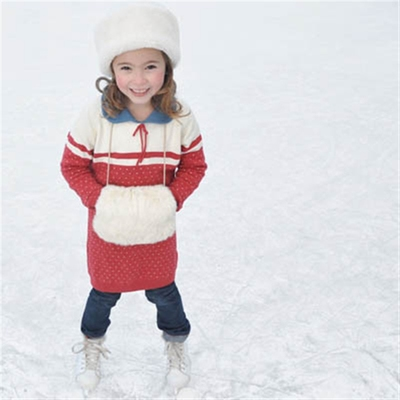 Kids Paula knitted dress i gruppen Barn / 2 - 8 år hos Sivletto (w6973)
