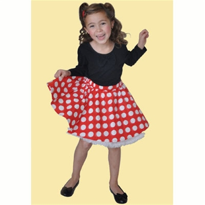 Janet Cirkle Skirt Red w white dots i gruppen Udda-disk / Barn hos Sivletto (w7340)