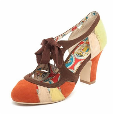 Parade Brown/Yellow Laced Sandal i gruppen Udda-disk / Dam / Damskor hos Sivletto (w7890)