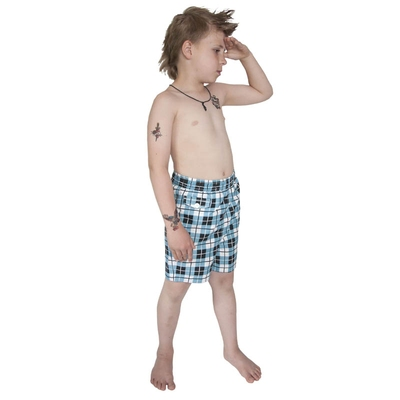 Terry Check Swim Kids Shorts i gruppen Barn / 2 - 8 år hos Sivletto - Skylark AB (w8007)