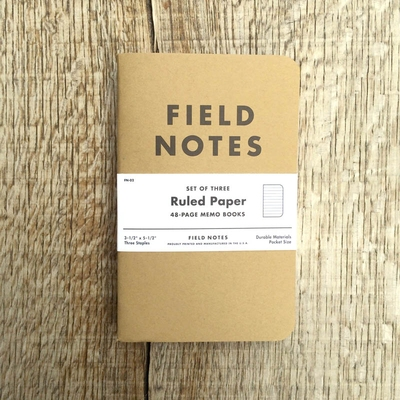 Field Notes 3-pack Ruled i gruppen Accessoarer hos Sivletto (w8177)