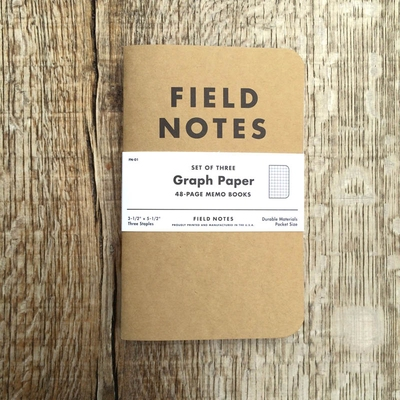 Field Notes 3-pack Graph i gruppen Unionville / Made in USA hos Sivletto (w8179)
