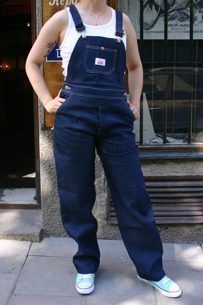 Round House Lot 9 Blue Denim Bib Overalls i gruppen Denim / Jeans hos Sivletto (w8245)