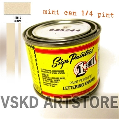 1 Shot Ivory (mini) i gruppen �vrigt / Pinstriping / F�rg hos Sivletto (w8635)