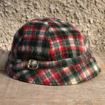 Vintage Childrens Hat Checked i gruppen Vintage / Barn hos Sivletto (w8693)