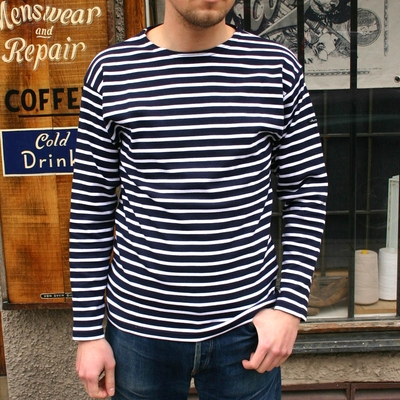 Armor-Lux Loctudy shirt navy i gruppen Herr / T-shirts hos Sivletto (w9327)