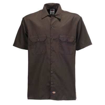 Dickies Shortsleeve work shirt dark brown i gruppen Herr / Skjortor kort ärm hos Sivletto (w9812)