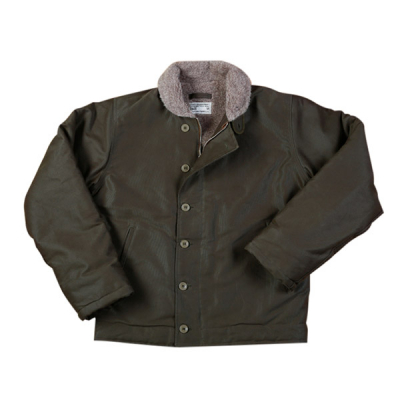 Pike Brothers 1944 N1 Deck Jacket Waxed Olive i gruppen Herr / Jackor hos Sivletto (w9902)